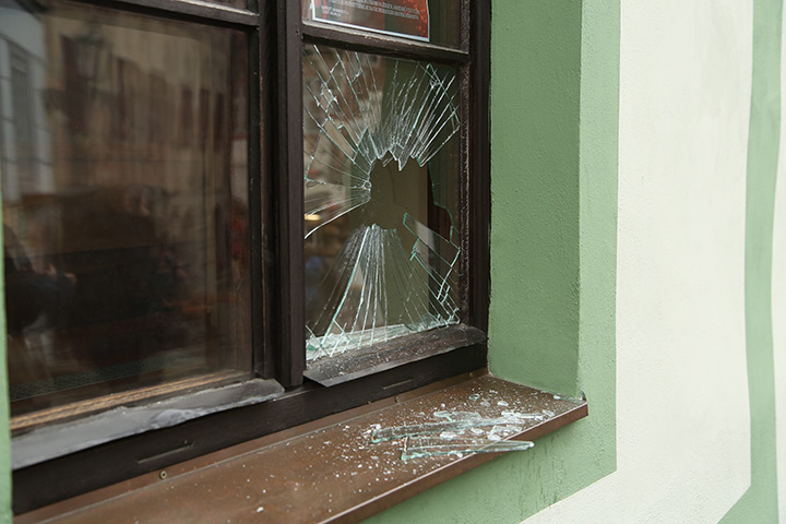 A2B Glass are able to board up broken windows while they are being repaired in Uckfield.